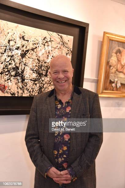 Paul Karslake attends a private view of artist Paul Karslake's exhibition at The Marylebone Gallery on November 15 2018 in London England