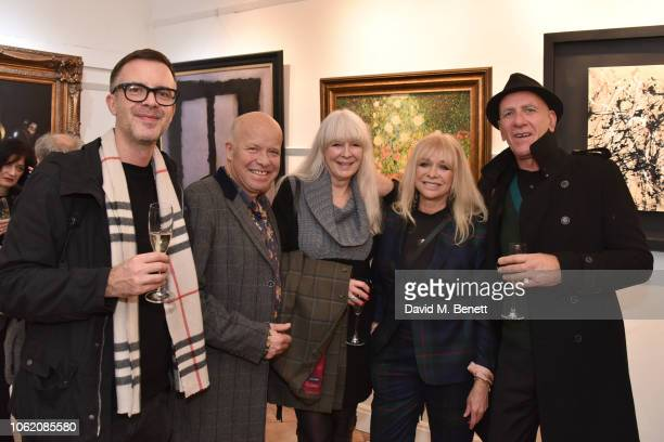 Paul Karslake Jo Wood and guests attend a private view of artist Paul Karslake's exhibition at The Marylebone Gallery on November 15 2018 in London...