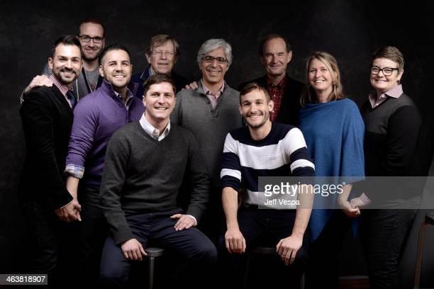 Paul Katami Chad Griffin David Zarrillo Ben Cotner Theodore Olson Ted Boutrous Ryan White David Boies Sandy Stier and Kris Perry pose for a portrait...