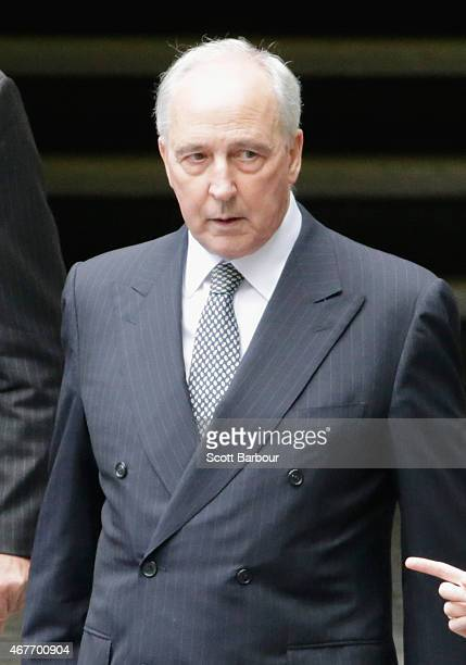 Paul Keating Former Prime Minister of Australia leaves Scots Church after the State Funeral for the Right Honourable Malcolm Fraser on March 27 2015...