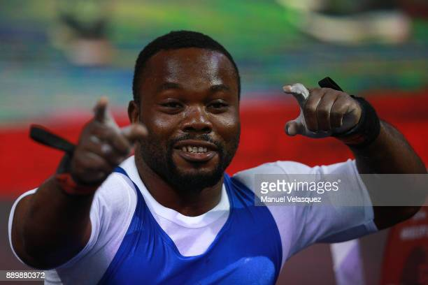 Paul Kehinde of Nigeria competes during the Men's Up to 65Kg Group A Category as part of the World Para Powerlifting Championships Mexico 2017 at...