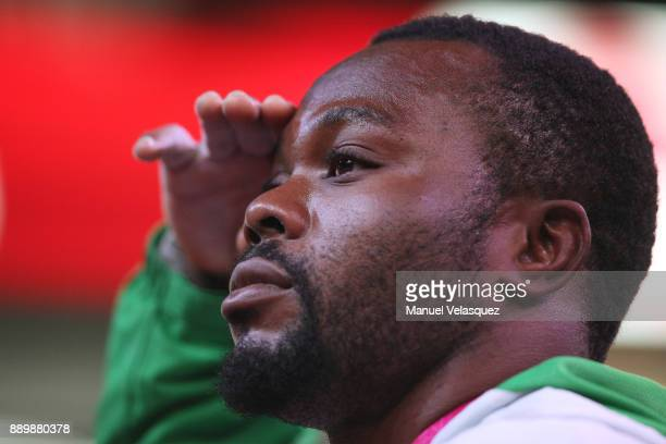 Paul Kehinde of Nigeria salutes during the Men's Up to 65Kg Group A Category as part of the World Para Powerlifting Championships Mexico 2017 at Juan...
