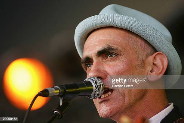 Paul Kelly performs on stage at Mt Smart Stadium on January 18 2008 in Auckland New Zealand