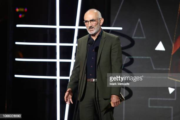 Paul Kelly recites a poem as he inducts Kasey Chambers into the ARIA Hall of Fame during the 32nd Annual ARIA Awards 2018 at The Star on November 28...