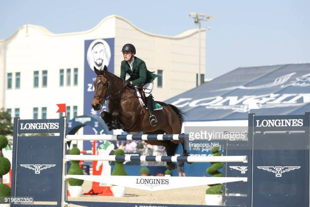 Paul Kennedy of Ireland rides Cartown Danger Mouse during The President of the UAE Show Jumping Cup at Al Forsan on February 17 2018 in Abu Dhabi...