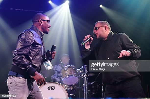 Paul 'Kermit' Leveridge and Shaun Ryder of Black Grape perform at Electric Ballroom on December 7 2016 in London United Kingdom