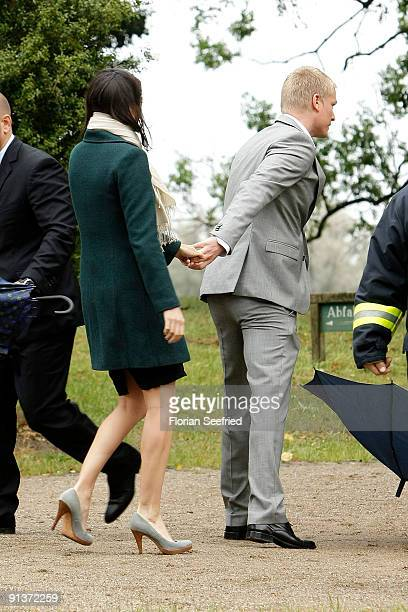 Paul Keuter former boyfriend of Barbara Schoeneberger and guest arrive for the church wedding of Barbara Schoeneberger and Maximilian von...
