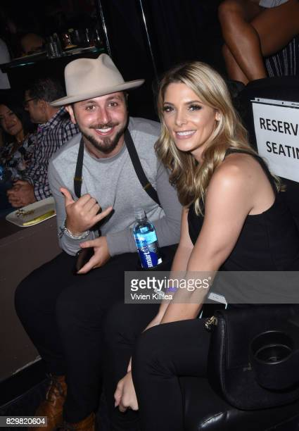 Paul Khoury and Ashley Greene attend a private event at Hyde Staples Center hosted by Sandals Resorts for the Ed Sheeran concert at Hyde Lounge at...