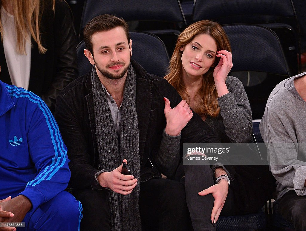 Paul Khoury and Ashley Greene attend the Washington Wizards vs New York Knicks game at Madison Square Garden on December 16, 2013 in New York City.