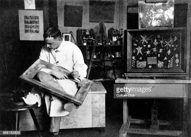 Paul Klee portrait of the German / Swiss artist painter at his Bauhaus Studio in Weimar Germany 1924 18 December 1879 29 June 1940 Key member of the...