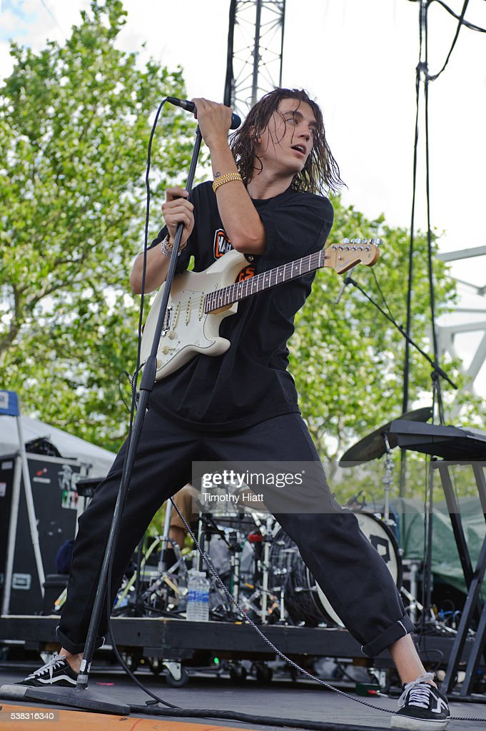Paul Klein of Lany performs at the 2016 Bunbury festival on