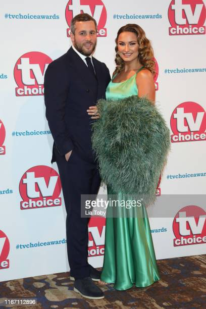 Paul Knightley and Sam Faiers attend The TV Choice Awards 2019 at Hilton Park Lane on September 9 2019 in London England