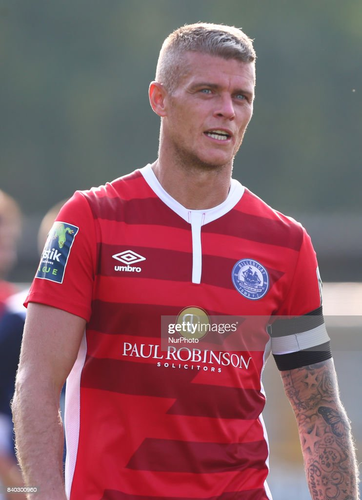 Paul Konchesky of Billericay Town during Bostik League Premier Division match between Thurrock vs Billericay Town at Ship Lane Ground, Aveley on 28 August 2017