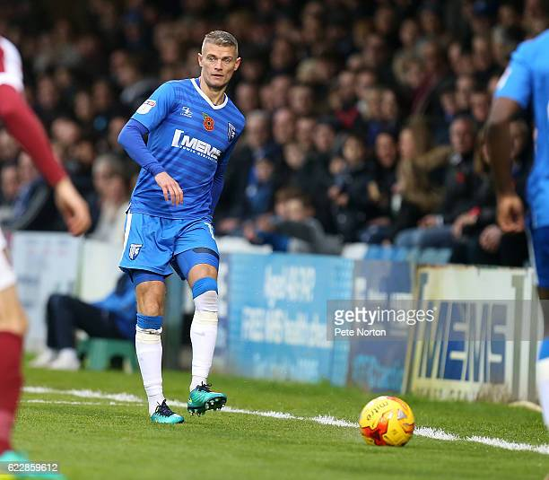 Paul Konchesky of Gillingham in action during the Sky Bet League One match between Gillingham and Northampton Town at Priestfield Stadium on November...