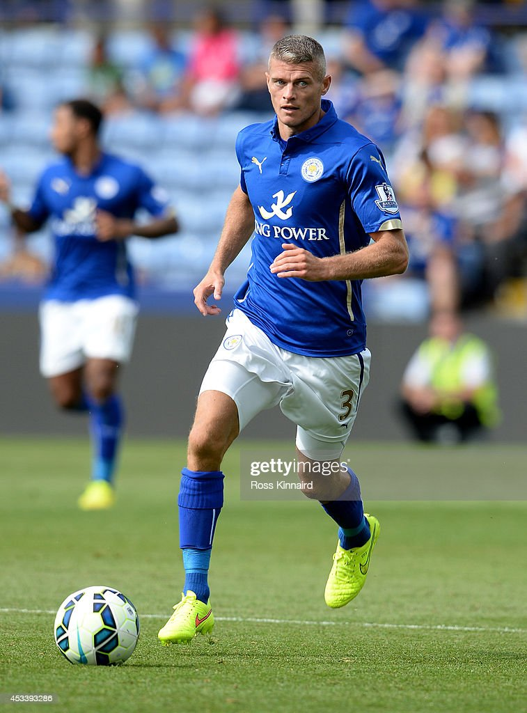 Paul Konchesky of Leicester City in action during the pre season friendly match between Leicester City and Werder Bremen at The King Power Stadium on August 9, 2014 in Leicester, England.