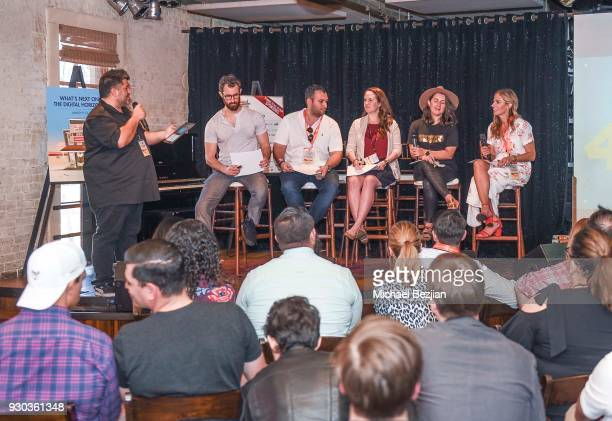 Paul Kontonis Chris Marino Kelsey Carroll Victoria Nielsen and Shannon Pruitt speak at Brand Innovators @ SXSW on March 10 2018 in Austin Texas