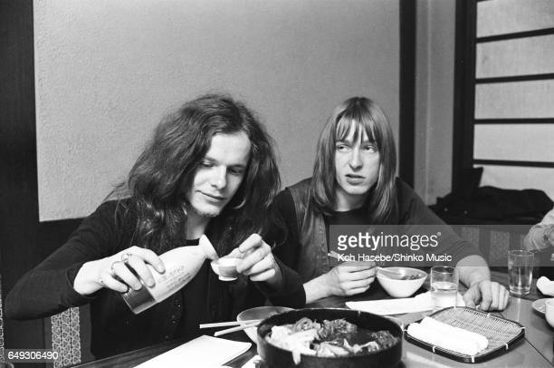 Paul Kossoff is interviewed drinking sake at a Japanese Restaurant, April 1970.