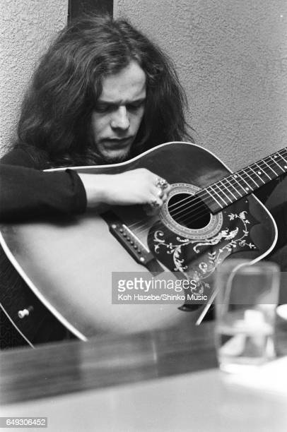 Paul Kossoff is interviewed with guitar at a Japanese Restaurant, April 1970.