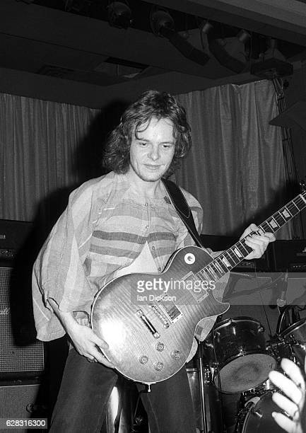 Paul Kossoff of English blues rock band Free performing on stage in United Kingdom, 1972.