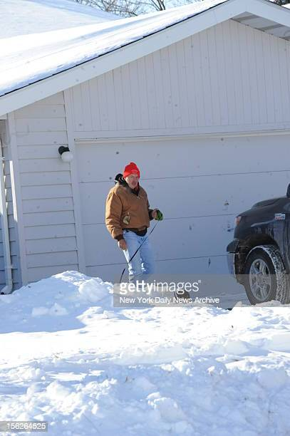 Paul Kranz father of Paula Broadwell outside his home in Bismarck North Dakota