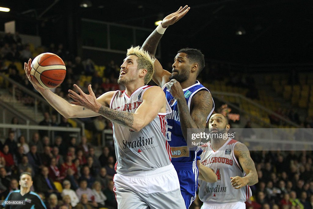 Paul Lacombe 6 in action during SIG Strasbourg v KK Mornar Regular Season - Group D of Basketball Champions League in Strasbourg, France, on 29 November 2016.