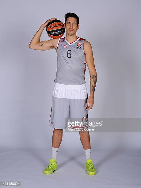 Paul Lacombe, #6 of Strasbourg poses during the 2015/2016 Turkish Airlines Euroleague Basketball Media Day at Rhenus Sport on September 26, 2015 in...