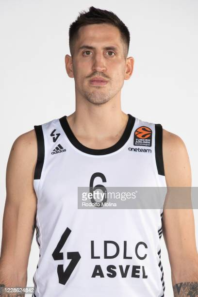 Paul Lacombe, #6 poses during the 2020/2021 Turkish Airlines EuroLeague Media Day of LDLC ASVEL Villeurbanne at L'Alqueria del Basket on September...