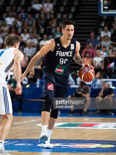 Paul Lacombe from France in action during the FIBA Basketball Wolrd cup 2019 qualifier match between France and Finland at the Sud de France Arena on...