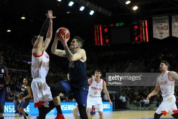 Paul Lacombe of France during FIBA Basketball World Cup 2019 qualifier match between France and Russia at the Rhenus Hall in Strasbourg, eastern...