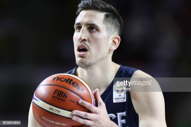 Paul Lacombe of France in action during FIBA Basketball World Cup 2019 qualifier match between France and Russia at the Rhenus Hall in Strasbourg,...