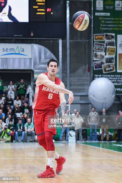 Paul Lacombe of Monaco during the Pro A match between Nanterre 92 and Monaco on January 21 2018 in Nanterre France