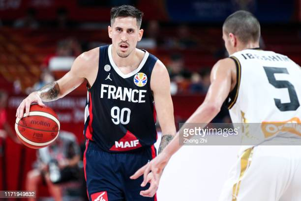 Paul Lacombe of the France National Team in action against the Jordan National Team during the 1st round of 2019 FIBA World Cup at Shenzhen Bay...
