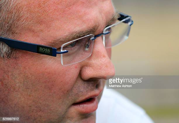 Paul Lambert manager / head coach of Aston Villa wears BOSS glasses
