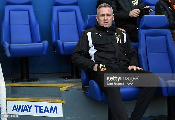 Paul Lambert manager / head coach of Wolverhampton Wanderers during the Sky Bet Championship match between Sheffield Wednesday and Wolverhampton...