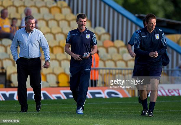 Paul Lambert manager of Aston Villa and Roy Keane assistant manager before the pre season friendly match between Mansfield Town and Aston Villa at...