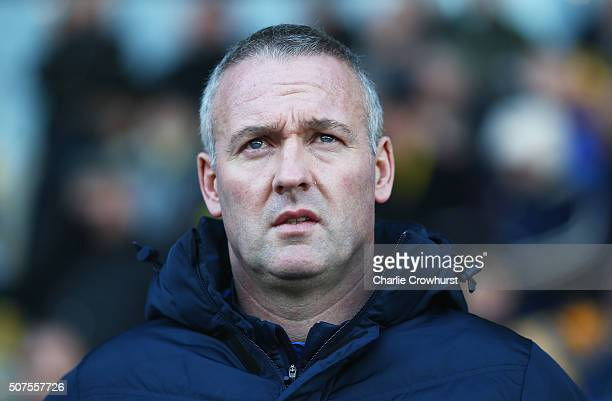Paul Lambert manager of Blackburn Rovers looks on prior to The Emirates FA Cup fourth round match between Oxford United and Blackburn Rovers at the...