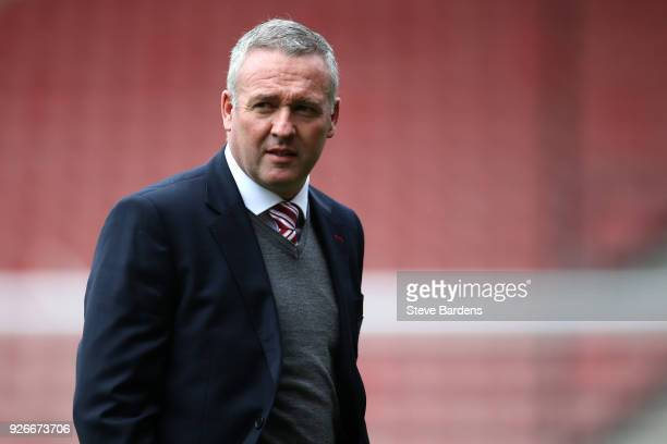 Paul Lambert Manager of Stoke City arrives ahead of the Premier League match between Southampton and Stoke City at St Mary's Stadium on March 3 2018...