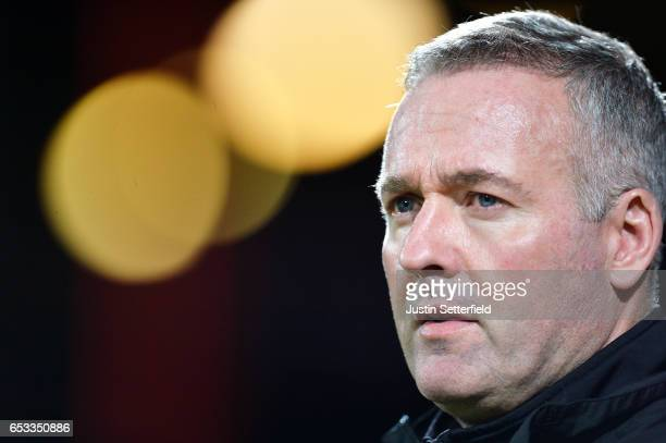 Paul Lambert Manager of Wolves during the Sky Bet Championship match between Brentford and Wolverhampton Wanderers at Griffin Park on March 14 2017...