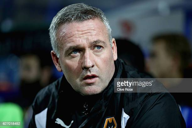 Paul Lambert manager of Wolves looks on prior to kick off during the Sky Bet Championship match between Queens Park Rangers and Wolverhampton...