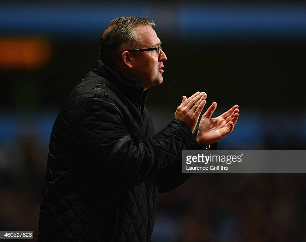 Paul Lambert of Aston Villa looks on during the Budweiser FA Cup Third Round match between Aston Villa and Sheffield United at Villa Park on January...