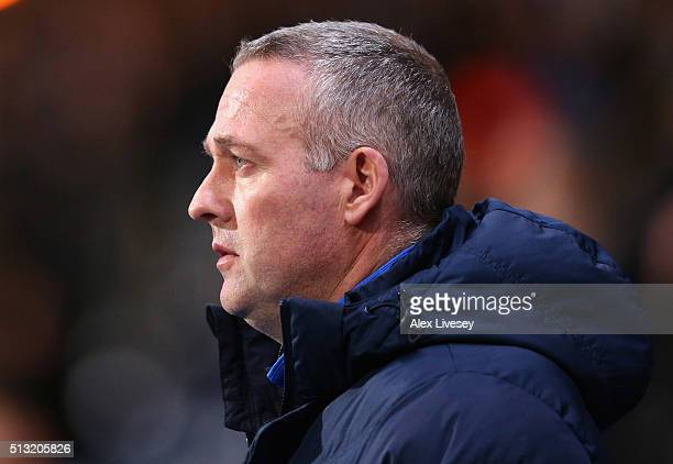 Paul Lambert the manager of Blackburn Rovers looks on during the Sky Bet Championship match between Blackburn Rovers and Middlesbrough at Ewood Park...