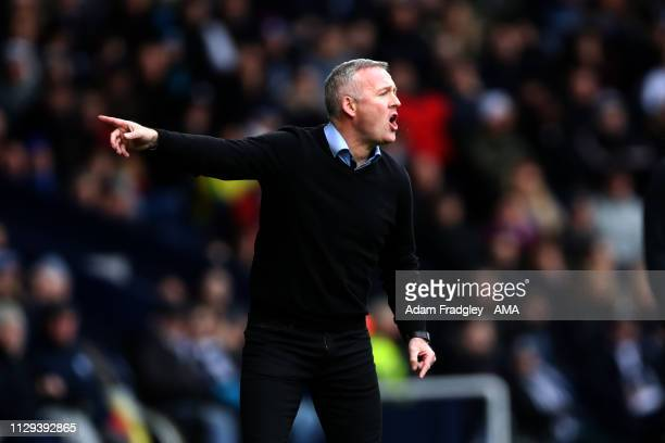 Paul Lambert the manger / head coach of Ipswich Town during the Sky Bet Championship match between West Bromwich Albion and Ipswich Town at The...