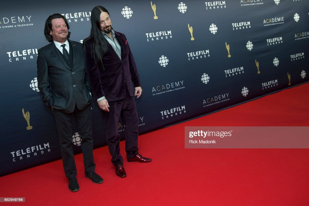 Paul Langois and Rob Baker, of The Tragically Hip. Canadian Screen Awards red carpet at Sony Centre for the Performing Arts ahead of the show.