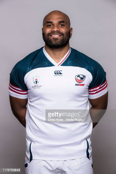 Paul Lasike of The United States poses for a portrait during the the USA Rugby World Cup 2019 squad photo call on September 19 2019 in Yomitan...