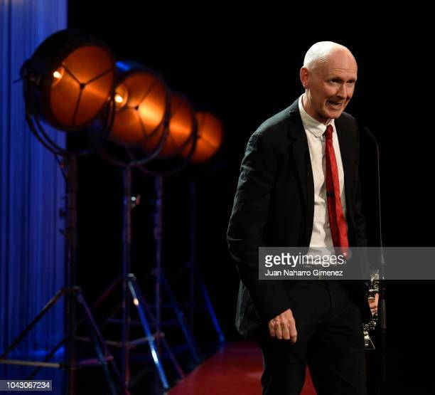 Paul Laverty during the closing ceremony of 66th San Sebastian Film Festival at Kursaal on September 29, 2018 in San Sebastian, Spain.