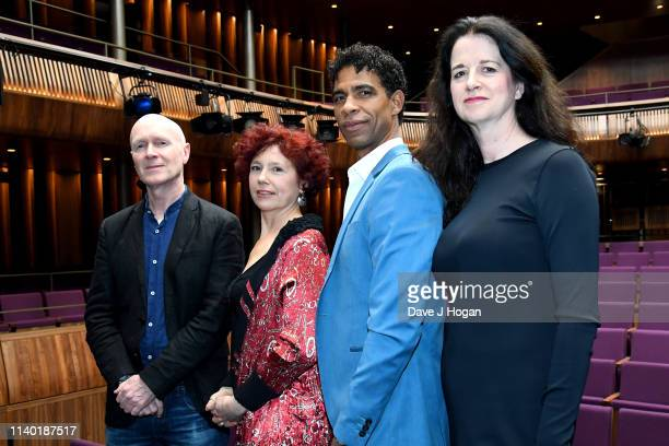 Paul Laverty Iciar Bollian Carlos Acosta and Andrea Calderwood attend the Yuli – The Carlos Acosta Story screening reception at The Royal Opera House...