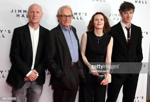 """Paul Laverty, Ken Loach, Simone Kirby and Barry Ward attend the UK Premiere of """"Jimmy's Hall"""" at BFI Southbank on May 28, 2014 in London, England."""