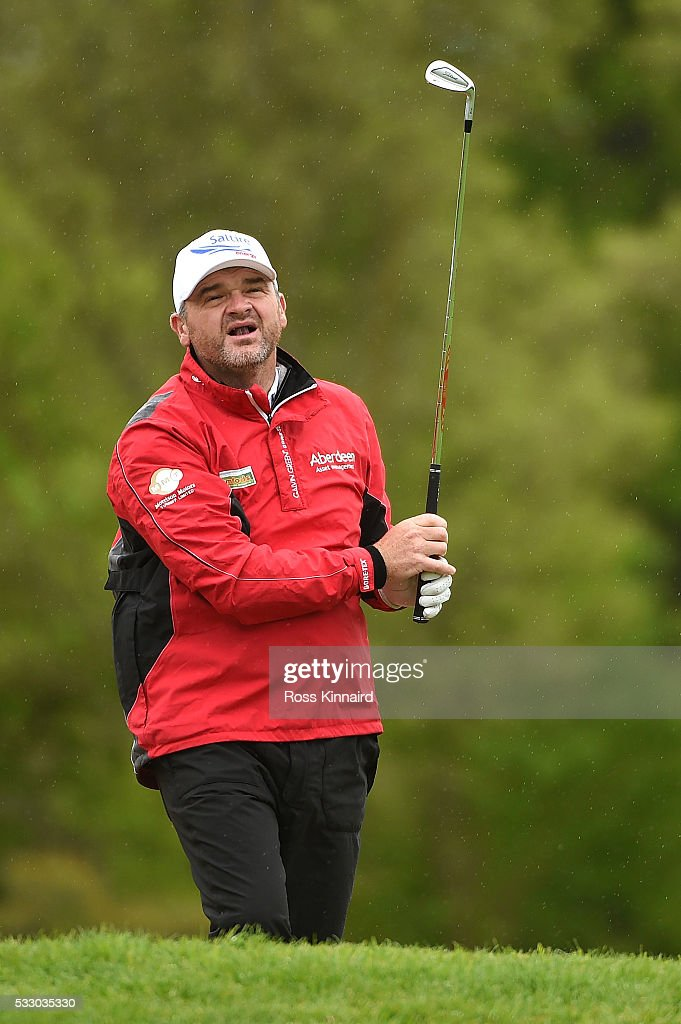 Paul Lawrie of Scotland hits his 2nd shot on the 11th hole during the second round of the Dubai Duty Free Irish Open Hosted by the Rory Foundation at The K Club on May 20, 2016 in Straffan, Ireland.