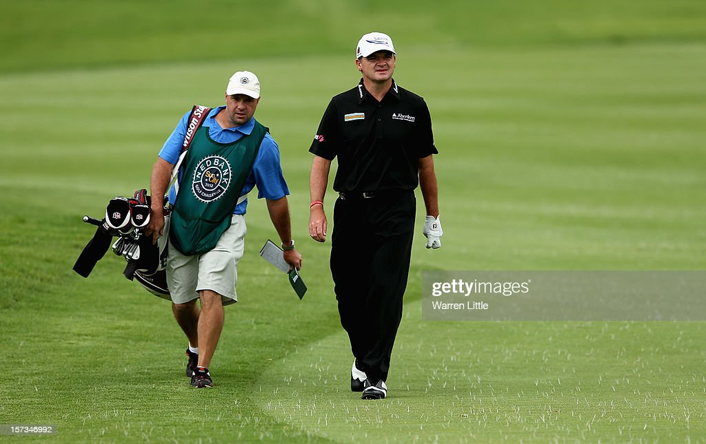 Paul Lawrie of Scotland in action during the final round of the Nedbank Golf Challenge at the Gary Player Country Club on December 2, 2012 in Sun City, South Africa.