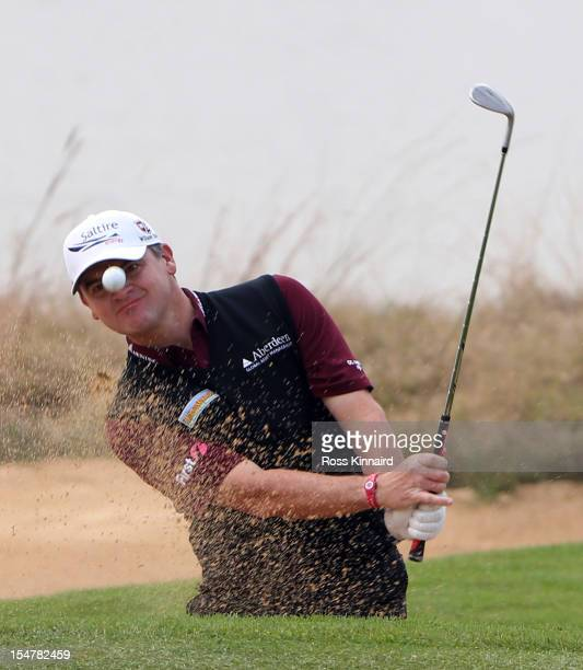 Paul Lawrie of Scotland on the par three 4th hole during the second round of the BMW Masters at the Lake Malaren Golf Club on October 26 2012 in...
